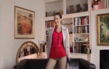 Stella Cox In Fishnet Stockings