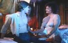 Kay Parker shares pizza boy with a friend