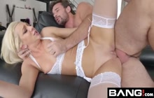 Tiffany Watson squirts all over that big cock
