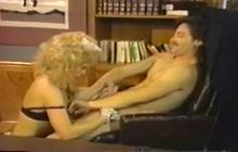 Office fuck with horny maid Nina Hartley