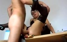 Hot German teacher seducing students and fuck them