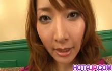 Kou Minefuji gets satisfied with oral job