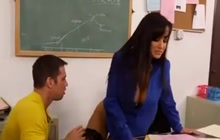Teacher Lisa Ann fucked in classroom