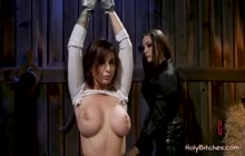 BDSM porn with two busty lezzers