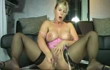 German Big Tit MILF Gets All Wet
