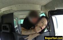 British slut fucked in the taxi