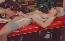 Hairy Lesbians Have Sex On Massage Table
