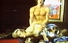Vintage couple having anal sex